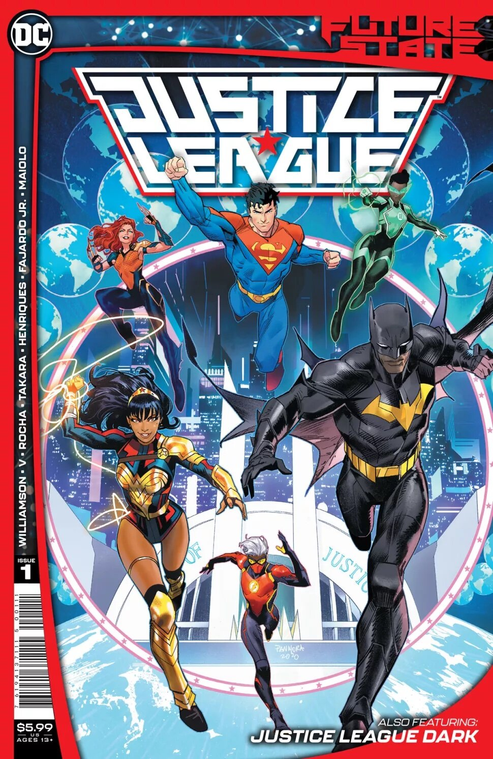 "SYNOPSIS:    ""Zatanna and Detective Chimp (now possessed by Etrigan) must round up new and old teammates, including John Constantine, Ragman, and Madame Xanadu. Their mission? To battle the power-mad Crow King, Merlin, before his plans for magical domination destroy the fabric of reality. But where is Dr. Fate? And what led the team to disband in the first place? Discover the truth here!"""