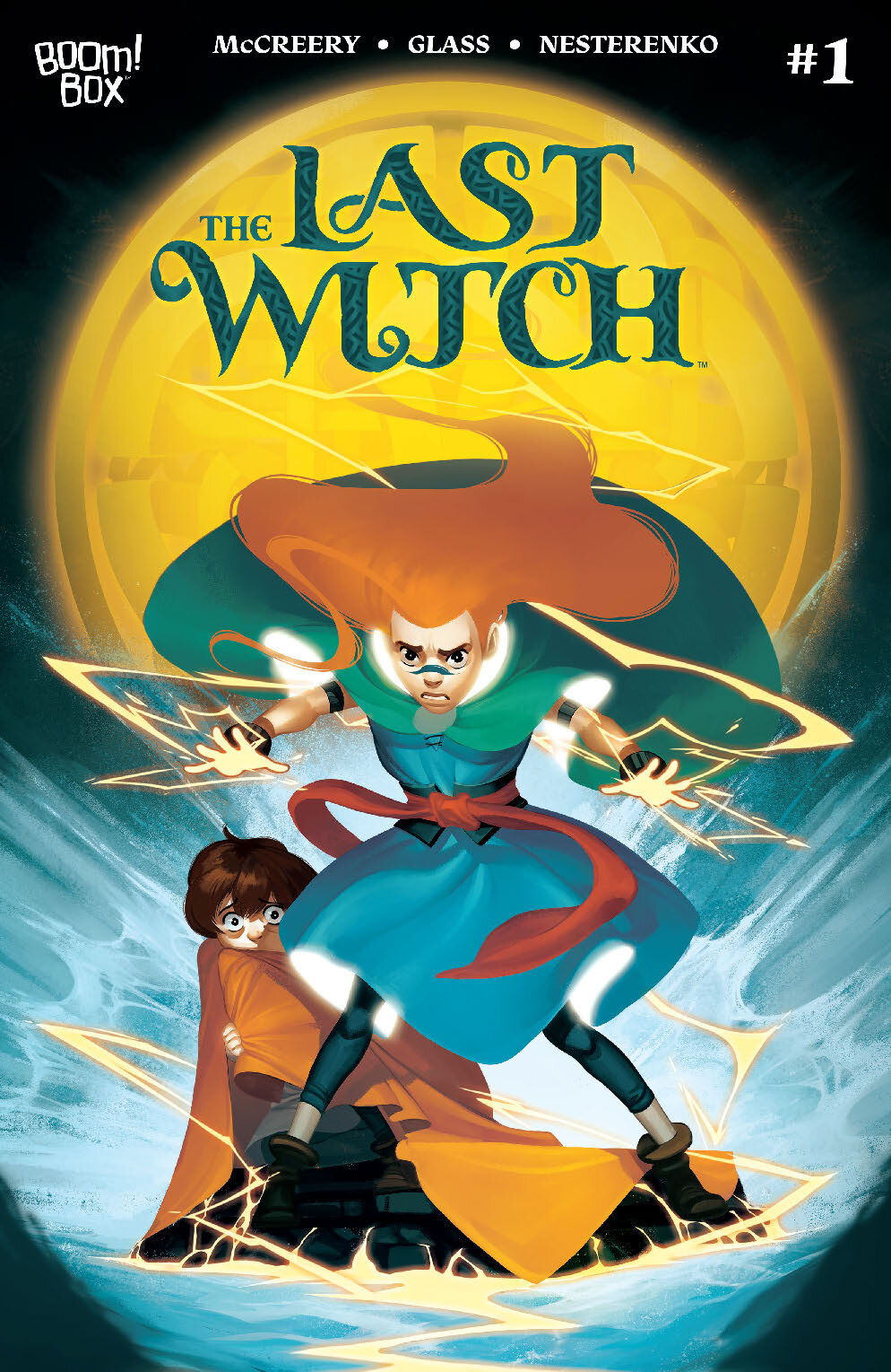 SYNOPSIS - On the day of an annual festival, young Saoirse's father and entire village are destroyed by the vengeful Cailleach. Now, on the run with her mysterious Nan and her younger brother Brahm, Saoirse discovers that the blue-black birthmark across her shoulder that has always made her an object of teasing is actually a powerful witchmark, which allows her to resist dark magick…and take it for herself.Nan must teach Saoirse to control her powers so that she can combat the dreaded Cailleach and her devious handmaidens, before they can release the terrifying Eater of Worlds from the faerie lands — and destroy all living things!