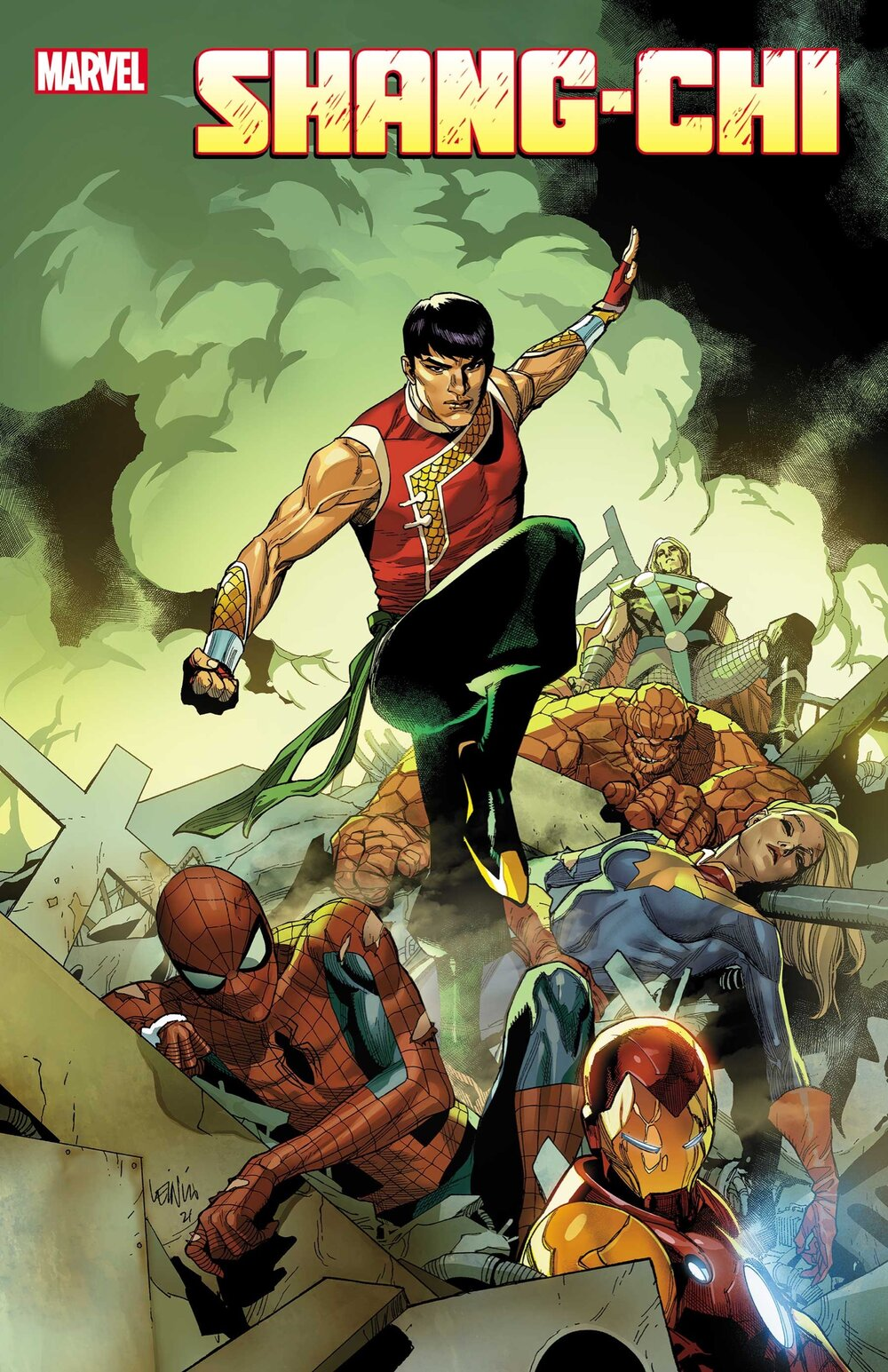 Photo credit: Marvel    SHANG-CHI #1    Written by GENE LUEN YANG    Art by DIKE RUAN    Cover by LEINIL FRANCIS YU    On Sale 5/19
