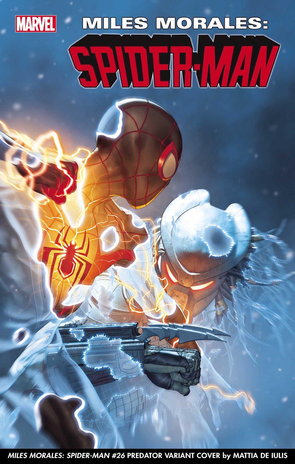 MILES MORALES: SPIDER-MAN #26 PREDATOR VARIANT COVER by MATTIA DE IULIS