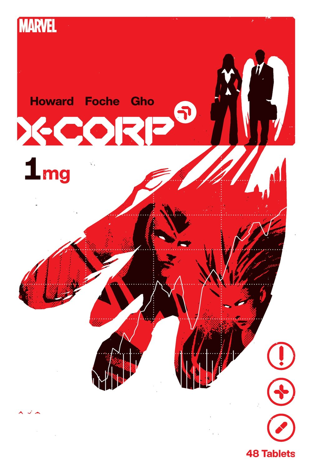 X-CORP #1  Written by TINI HOWARD  Art by ALBERTO FOCHE  Colors by SUNNY GHO  Cover by DAVID AJA  On Sale 5/12
