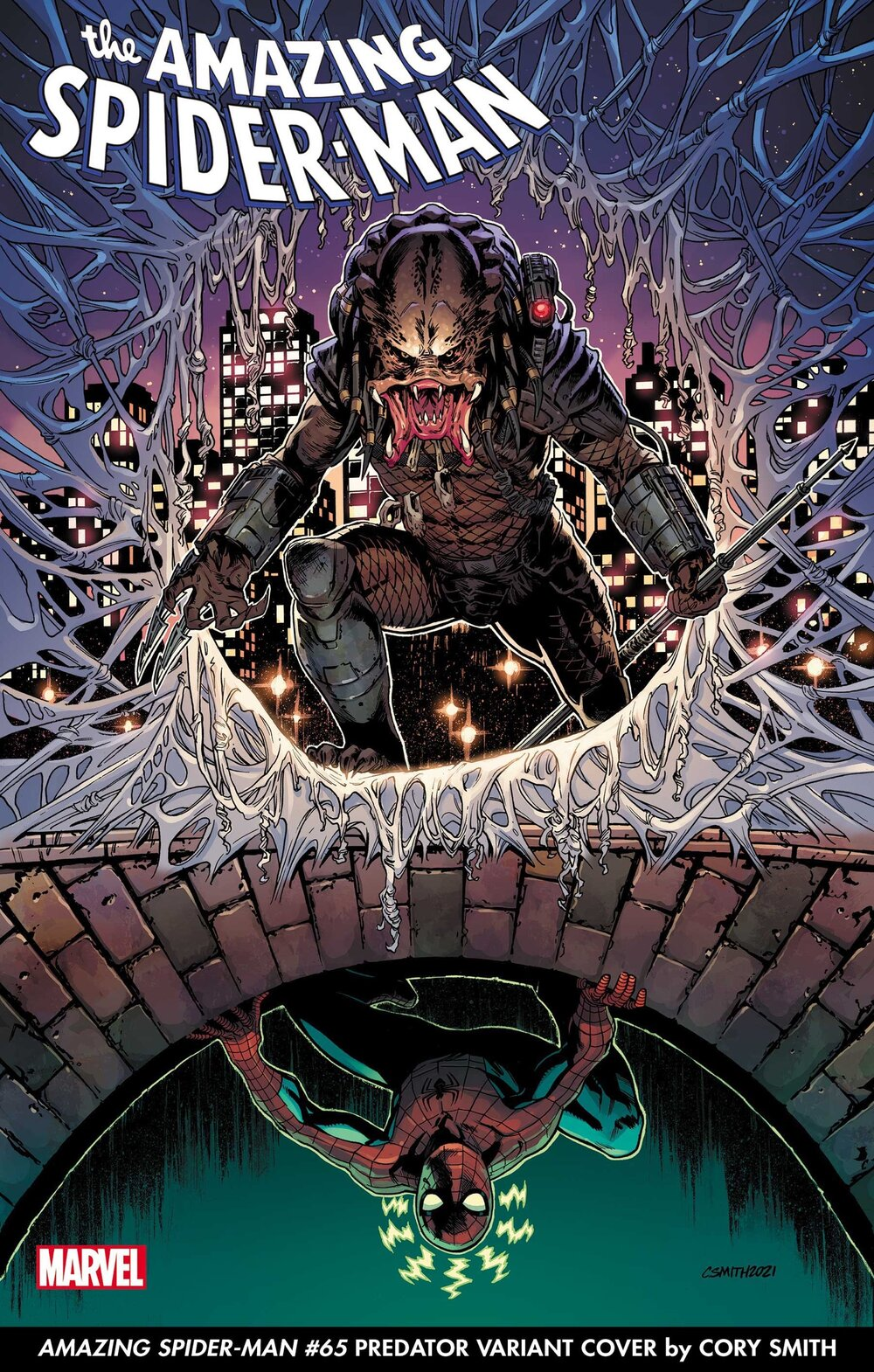 AMAZING SPIDER-MAN #65 PREDATOR VARIANT COVER by CORY SMITH