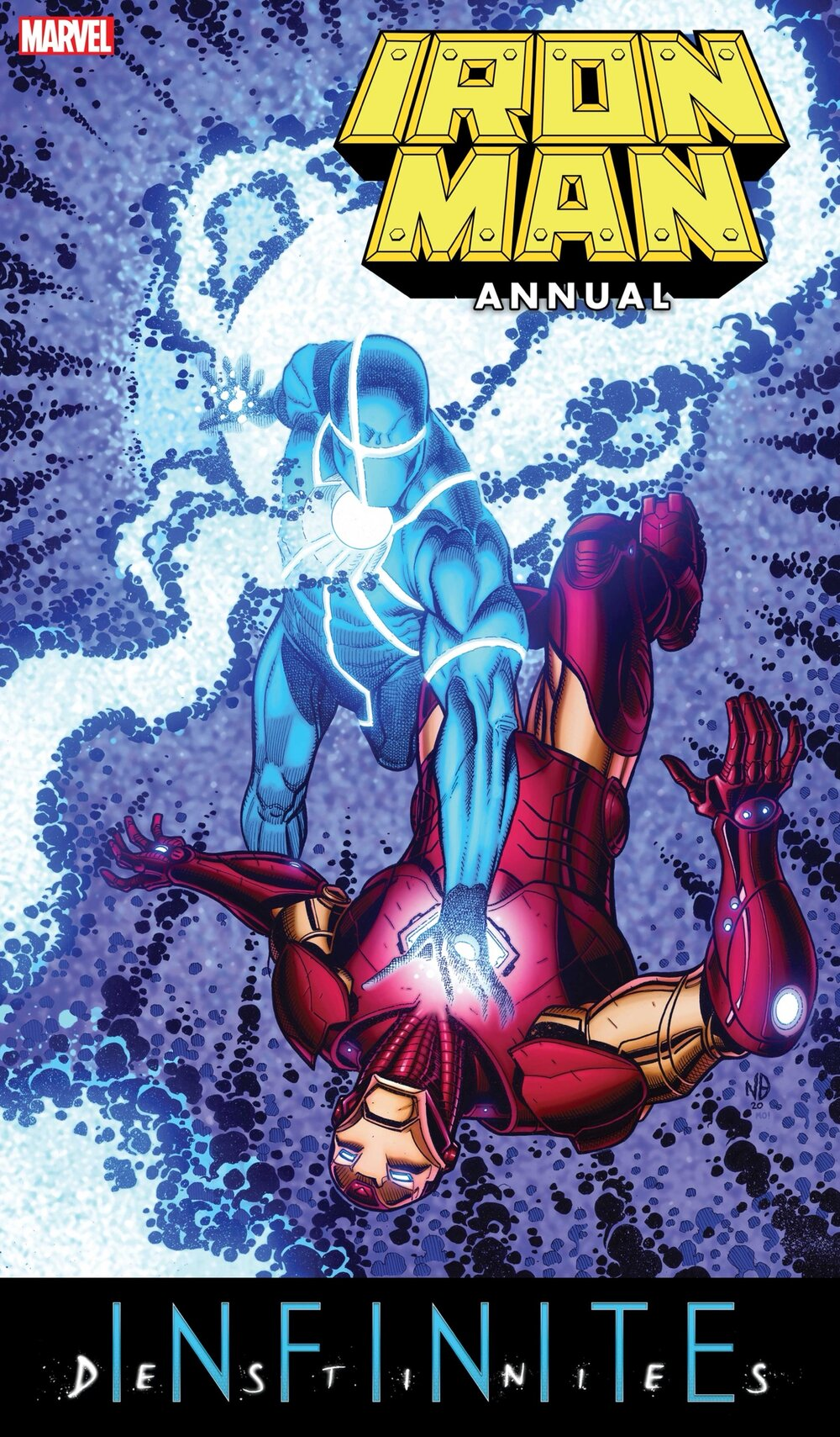 IRON MAN ANNUAL #1  Written by JED MACKAY  Art by IBRAIM ROBERSON  Cover by NICK BRADSHAW  On Sale 6/2