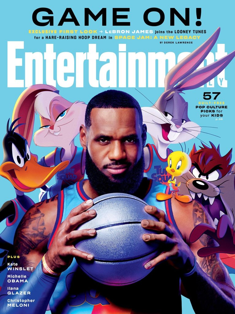 first photos from space jam a new legacy and new story details which includes lebron james passing through other wb films4