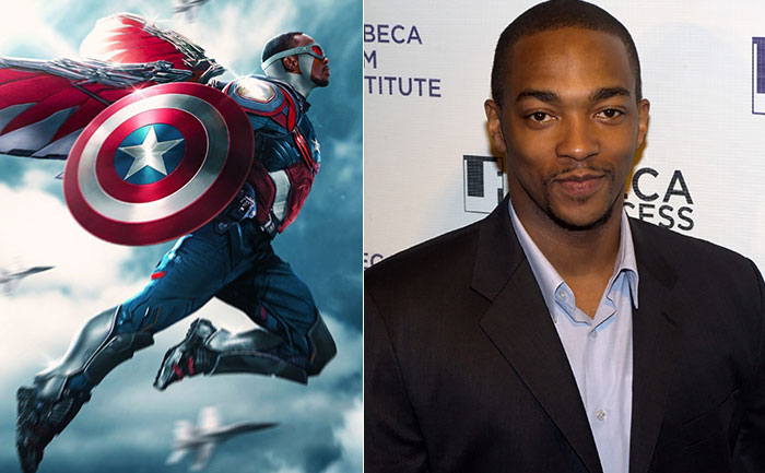 Sam Wilson as Captain America - Anthony Mackie