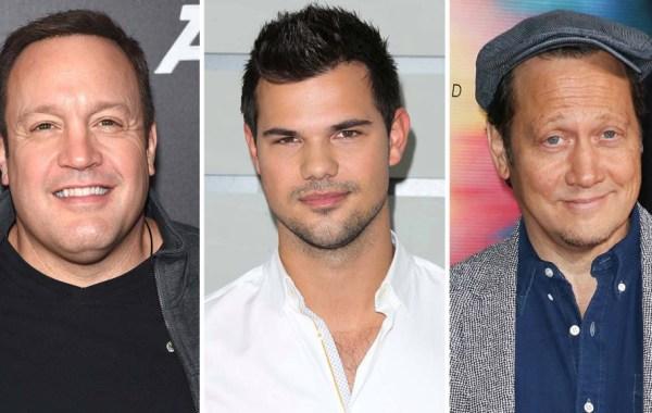 Kevin James Taylor Lautner and Rob Schneider Split Getty H 2021