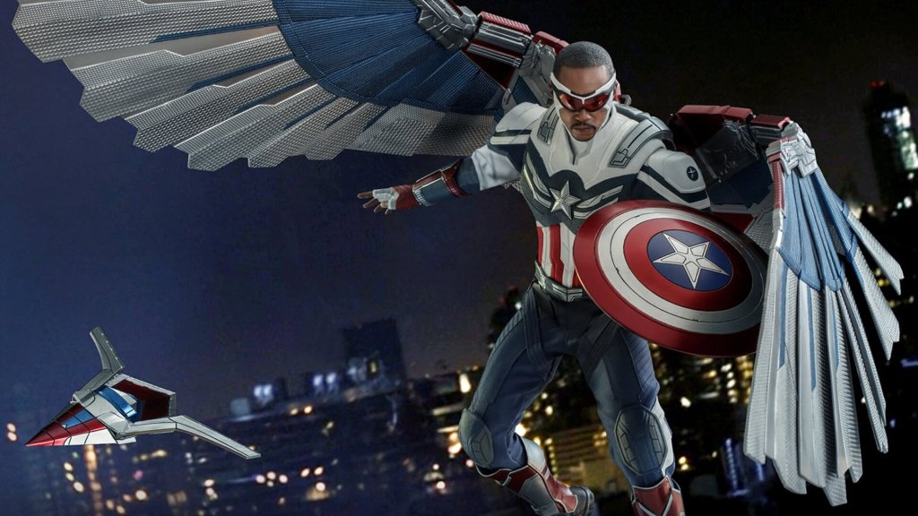 hot toys shows off sam wilson captain america action figure from the falcon and the winter soldier 1