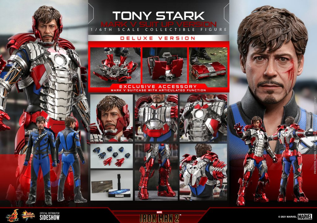 tony stark mark v suit up version deluxe marvel gallery 609caf982dbf5