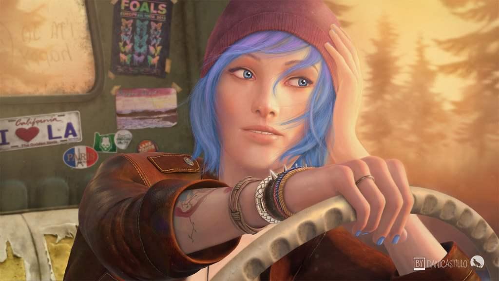 chloe price life is strange blue haired wallpaper